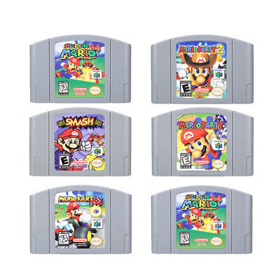 Mario Kart Super Mario 64 Party123 Video Game Cartridge for Nintendo N64 Console