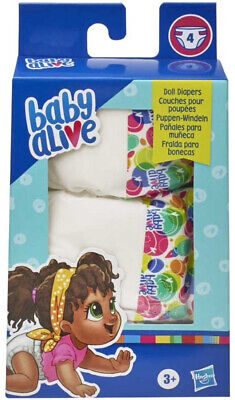 Baby Alive Pack of 4 Nappies
