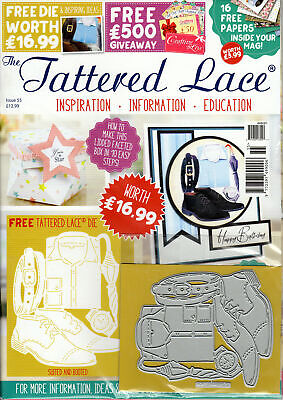 Brand New Tattered Lace Magazines - Issues 11, 55, 57 & 58 with Dies