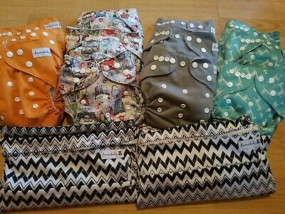 Anmababy 12 Pack Adjustable Size Waterproof Washable Pocket Cloth Diapers...