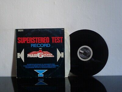 Ignoto Superstereo Test Record Vedette Rec. Icc-002