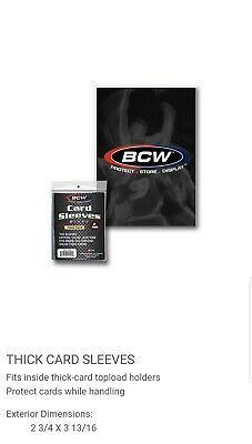 🏈⚾️3 Packs Of(100) Bcw Thick Penny Sleeves For Thick Cards. Free Shipping⚾️🏈