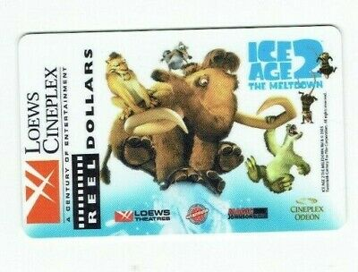 Loews Cineplex Gift Card - Ice Age 2 The Meltdown / 2005 - No Value