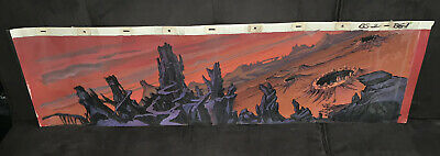 BLACKSTAR Pan Cel Animation Background Heman Motu Art