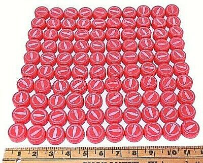 My Coke Rewards Coca-Cola 300 Bottle Caps Unclaimed Codes Washed All Red Lot