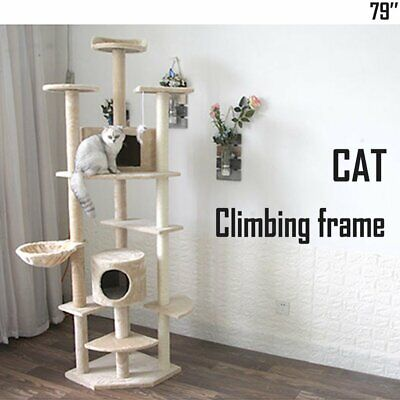 """50"""" Cat Tree Tower Condo Furniture Scratching Scratch Pet Kitty Play House US"""