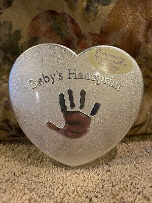 Baby Handprint Footprint kit mold plaster easel colored chalk Baby Gift