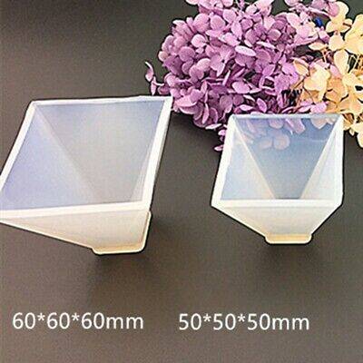 Pyramid Silicone Mold Resin Jewelry Making Mould Epoxy Pendant Craft DIY To q1w