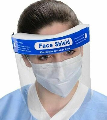 5PCS New Safety Face Shield Protection Cover Guard Reusable Transparent Anti-Fog