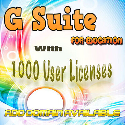 ⚡Domain name with 1000 users for Google apps For Education  Add DomainAvailable