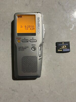 Olympus DS4000  Digital Voice Recorder, 32MB XD Card