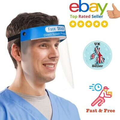 Full Face Shield Visor Protection Film Reusable Eye Mouth Safety Guard