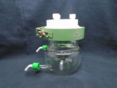 CHEMGLASS 200ML Glass Jacketed Reaction Vessel Body Lid GL14 And Clamp CG-1926
