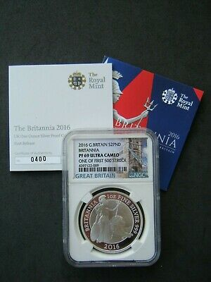 2016 Royal Mint Britannia £2 Two Pound Silver Proof 1oz Coin NGC PF69 UC