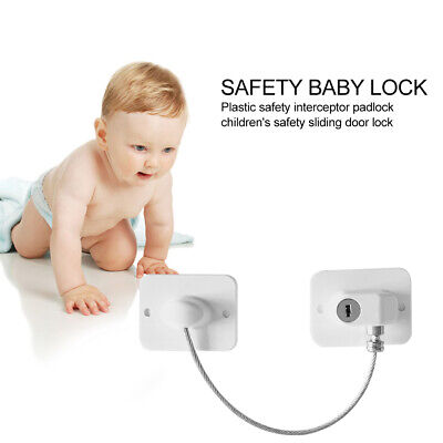 Window Door Restrictor Child Baby Safety Security Locking Cable Wire Lock Set