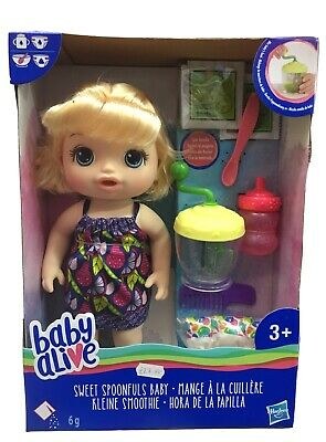 Hasbro - Baby Alive Sweet Spoonfuls Blonde Baby Doll - NEW*  Girl -BEST PRICES!