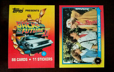 1989 Back To The Future Card Set  1-88 With Sticker Set 1-11