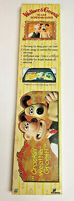 "VINTAGE WALLACE AND GROMIT CAR WINDSCREEN 50"" SUN SHADE PROTECTOR 1990s RARE"