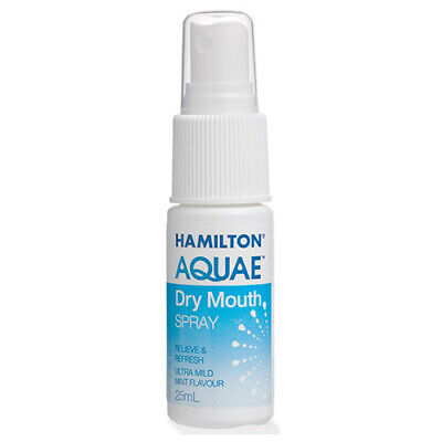 NEW Hamilton Cold Sore Dry Mouth Spray Aquae Dry For Anxiety Illness 25ml