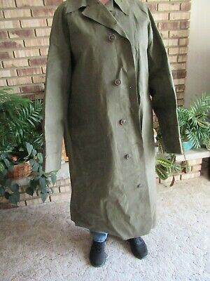 Vintage 1945 Marathon Rubber Co Military Raincoat Medium