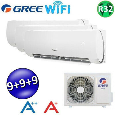 *** GREE MUSE Wifi TRIAL 9000+9000+9000 BTU *** / CLIMATISEUR REVERSIBLE / A++