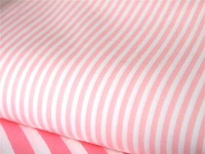 Pink white 3mm candy Stripe 100% COTTON fabric for dress craft patchwork bunting