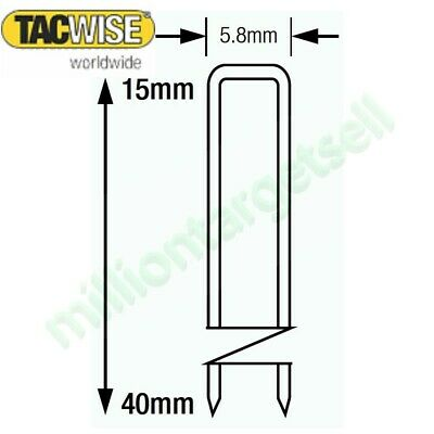 Tacwise 90 Narrow Crown stripes 200-5000 Staples 15 18 20 22 25 30 32 35 40mm
