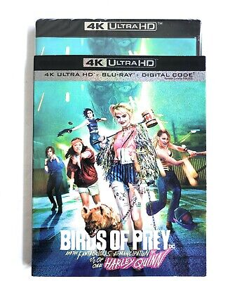 Birds Of Prey Harley Quinn 4K + Blu Ray + Digital With Slipcover SEALED