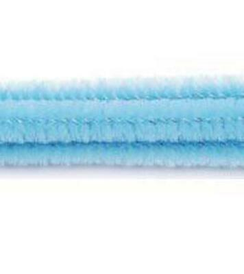 """Pack of 25 12"""" Pipe Cleaners / Chenille Stems - Baby Blue"""