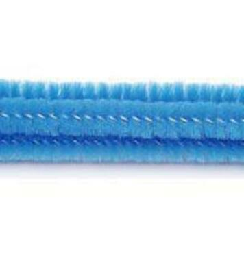 """Pack of 25 12"""" Pipe Cleaners / Chenille Stems - Blue"""