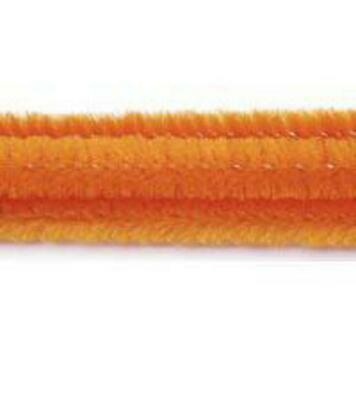 """Pack of 25 12"""" Pipe Cleaners / Chenille Stems - Orange"""