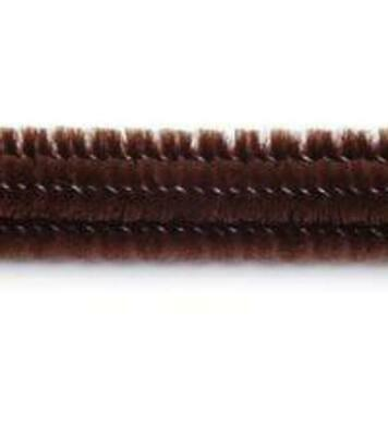"""Pack of 25 12"""" Pipe Cleaners / Chenille Stems - Brown"""