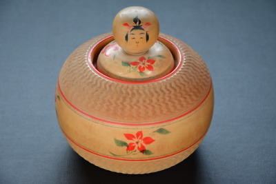 Kokeshi Old 1977' Japanese traditional crafts wooden Doll antique