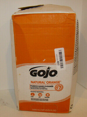 Gojo Soap, Refill Natural Orange Pumice Hand Cleaner Open Box Exp:8/22