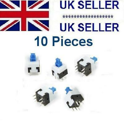 10 Piece's Push Button Self Latching Tactile Switch 8 x 8 mm 6 Pin