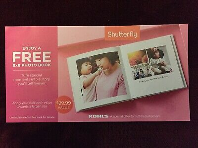 Shutterfly 8x8 photo book exp 7/31/20