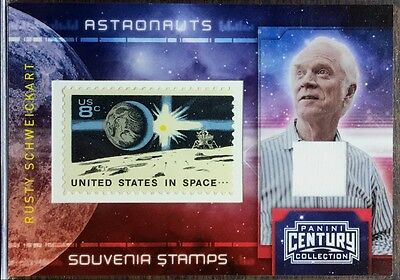 Rusty Schweickart 2010 Panini Stamp & Relic Swatch  Moon Surface Version / 100
