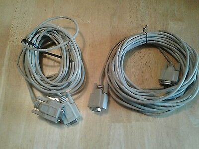 2 Console Cables- 25' DB9 Female to DB9 Female