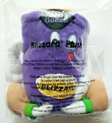 1999 Dairy Queen DQ Blizzard Ice Cream Plush Advertising Promotional Toy SEALED