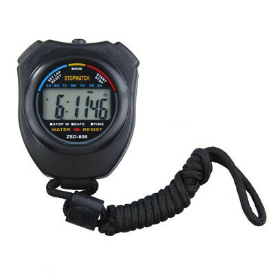 Handheld Stopwatch Chronograph Digital Timer Lcd Sport Watch Counter Sports Pyle