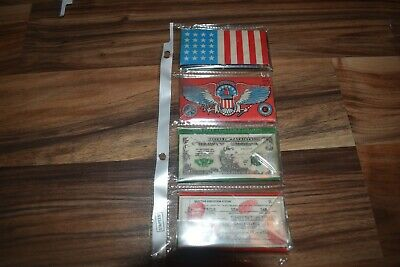 Vintage Tobacco cigarette rolling papers 4 packs ( 1 full ) 3 empty - patriotic