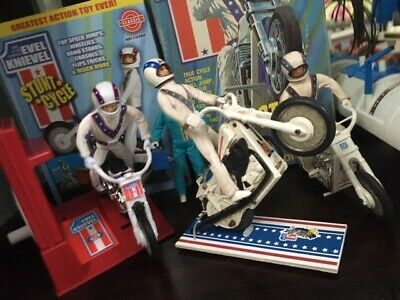 Evel Knievel Stunt Cycle Display Stand