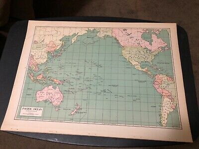 L@@K! Vintage 1940 World Atlas Map of  WWII World War Map