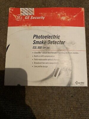 NEW GE 521B 500 Series 2 Wire Photoelectric Smoke Detector Low Profile