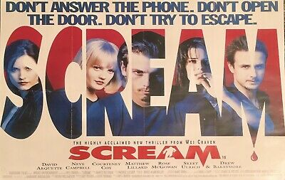 "Wes Craven's SCREAM Poster 17"" x 11"""
