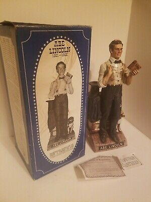 """Vintage 1976 Limited Edition Abe Lincoln McCormick Bourbon Whiskey 14"""" Decanter"""