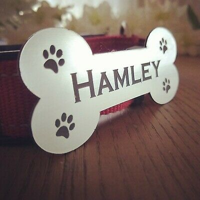 Pet Name Plate Dog Kennel Name Plaque House Name Number Dog bone Name Adhesive