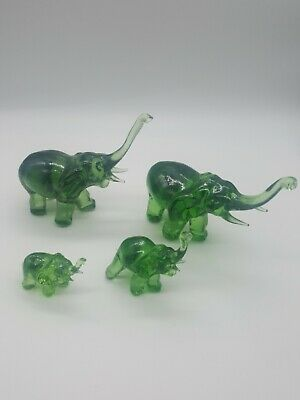 Glass Green Elephant