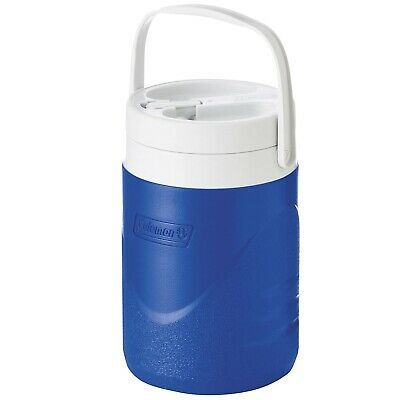 Food Safe 1 Gallon Wide Mouth Insulated Plastic Ice-Cold Personal Drinks Cooler