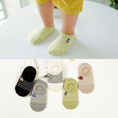 5 Pairs Baby Kids Boys Girls Trainer Ankle Seamless Cotton Socks For 1-10 Years